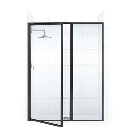 Framed Shower Door Parts Coastal Shower Doors Legend Series 44 In X 66 In Framed Hinged Swing Shower Door With Inline