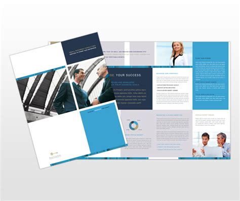 mini brochure template small business brochures images