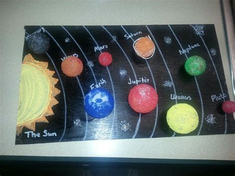 solar system craft for solar system diorama project solar system project