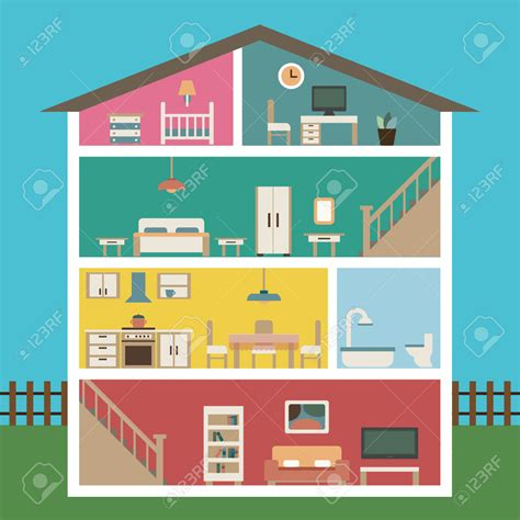 art for house house with basement clipart 8