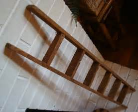 Rustic barn wood ladder country primitive antique decor
