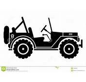 Jeep Silhouette Royalty Free Stock Image  33699986