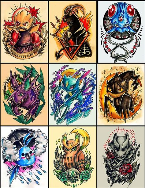 pokemon tattoo designs 46 best images about on rocket raccoon