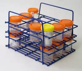 stackable specimen cup rack from medicus health