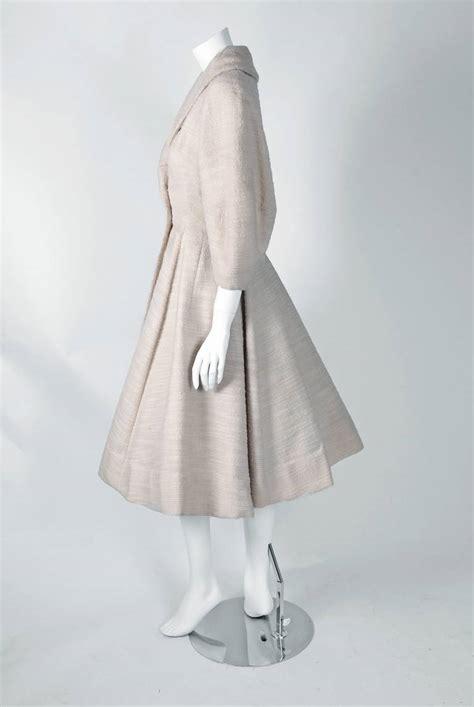 white swing coat 1940 s lilli ann elegant ivory white wool rockabilly