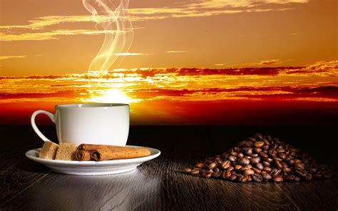 coffee   shore  sea   sunrise