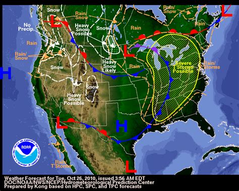 us weather map of today your hometown weather october 26 2010 severe weather