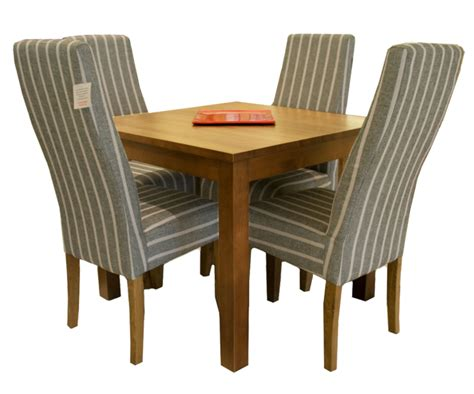 medium solid oak dining table with drawer 4 fabric