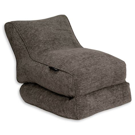 ambient lounge bean bag indoor bean bags conversion lounger grey