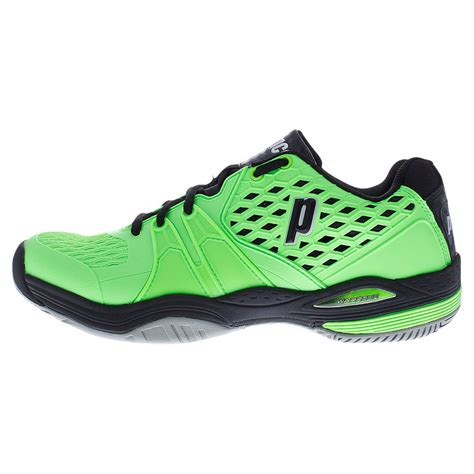 prince s warrior tennis shoes green and black