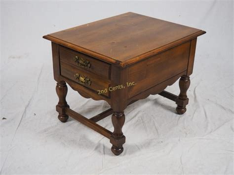 house end table lenoir house by broyhill end table with drawer