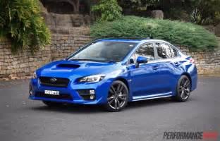 Blue Subaru Wrx 2016 Subaru Wrx Review Manual Cvt Auto