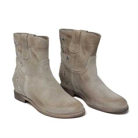wedges ankle boots suede beige made in italy