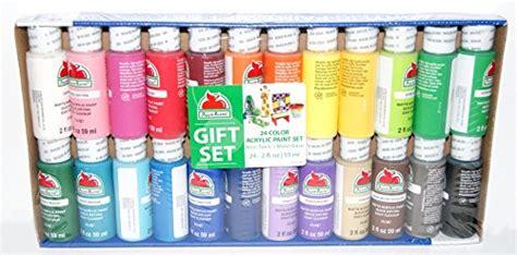 apple barrel acrylic paint on canvas apple barrel acrylic paint gift set 24 colors 2 ounces