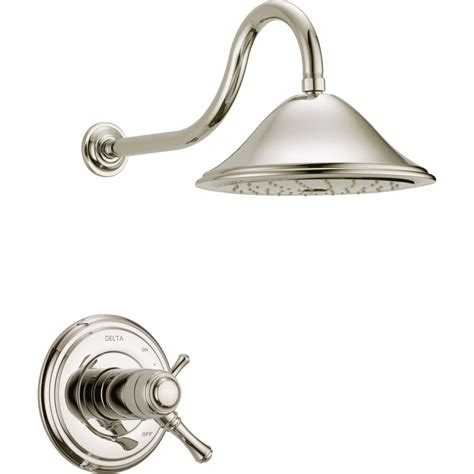 Delta Bathroom Shower Faucets Delta Faucet T17t297 Pn Cassidy Polished Nickel One Handle Shower Only Faucets Efaucets