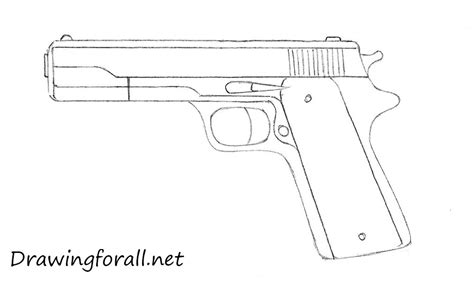 how to draw doodle guns how to draw a gun for beginners drawingforall net