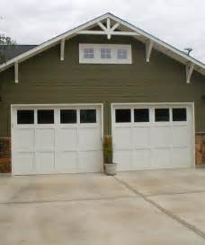 simple craftsman style garage doors