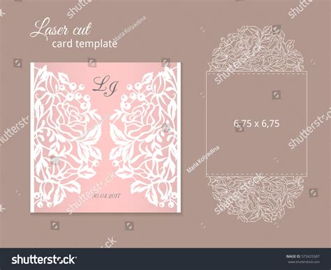 laser cut cards template laser cut invitation card template wedding stock