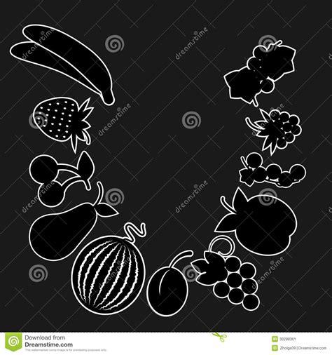 fruta blanco y negro fotos de archivo imagen 18950683 versi 243 n blanco y negro de la fruta imagen de archivo