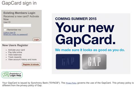 Can You Use A Gap Gift Card At Old Navy - gap credit card login make a payment