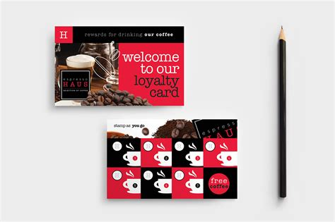 Loyalty Card Template Psd by Cafe Loyalty Card Template In Psd Ai Vector Brandpacks