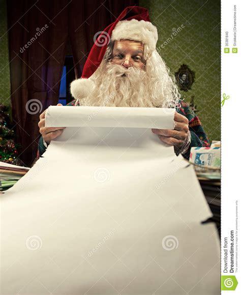 christmas list stock photo image of santa beard claus