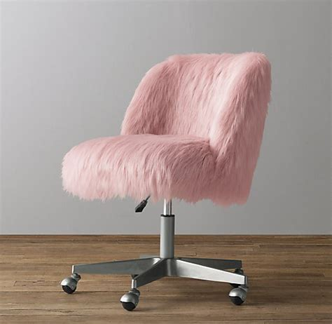 cheap fuzzy desk chairs pink fluffy desk chair chairs seating