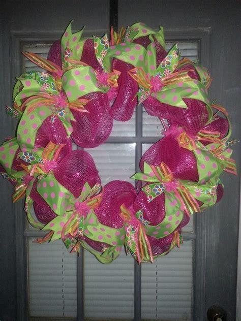 spring wreath ideas spring deco mesh wreath wreath ideas pinterest deco