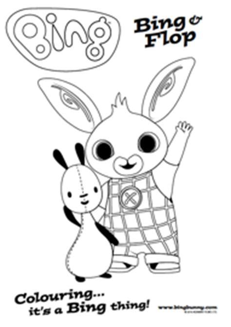bing bunny coloring page colouring bing bunny
