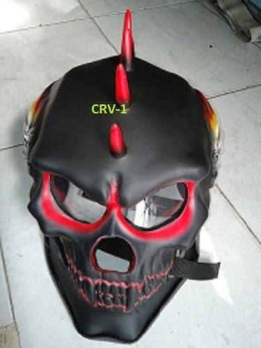 Helm Tengkorak black skull
