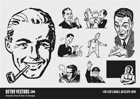 drawings of 1950 boy s hairstyles free 50s vectors graphic design freebies retro