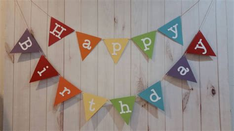 Sale Bunting Flag Hbd Colorful rainbow birthday banner rainbow birthday rainbow