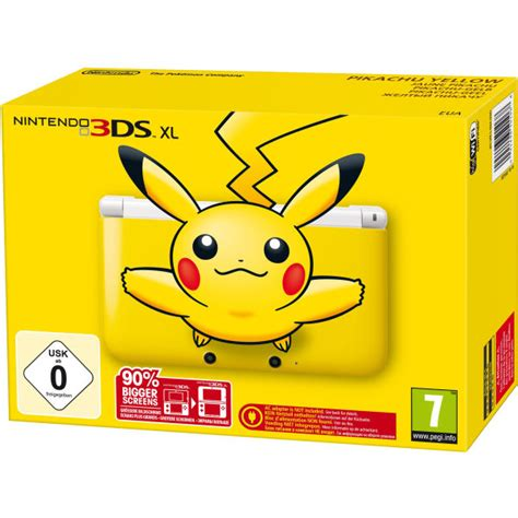 Nintendo New 3ds Xl Pikachu Limited Edition nintendo 3ds xl console limited edition yellow pikachu