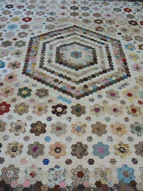 Hexagon Patchwork Projects - 89 best epp antique quilts images on
