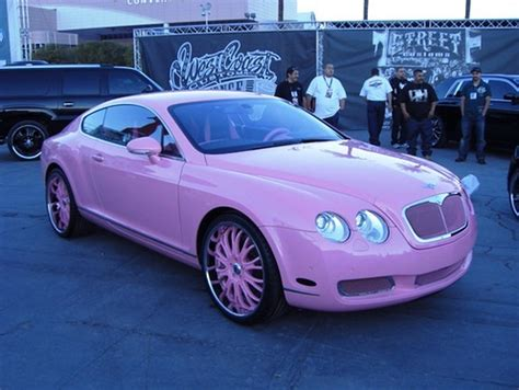 bentley car pink a pink bentley for paris hilton autoevolution