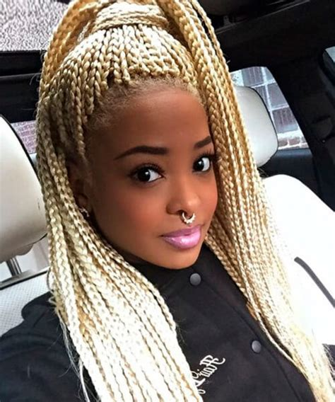 blonde braids in hair black women natural hairstyles for african american women and girls
