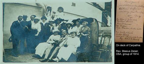 Captain Chair File Rms Carpathia Passengers On Deck 1914 Blasius Zeiser
