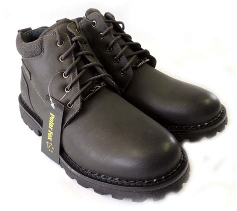 mens boots combat style shoes new mens ankle boots style combat lace up leather