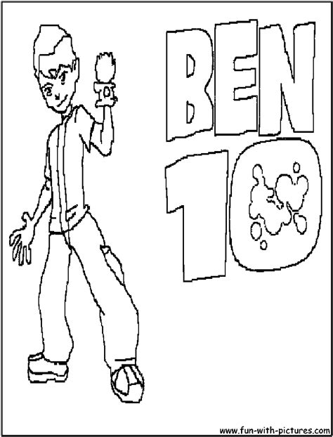 Cartoons Coloring Pages Ben 10 Coloring Pages Coloring Ben 10