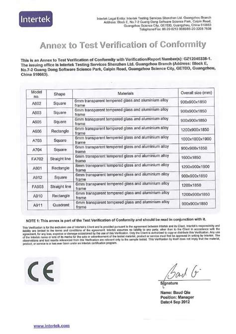 section 975 certificate decobay certifications