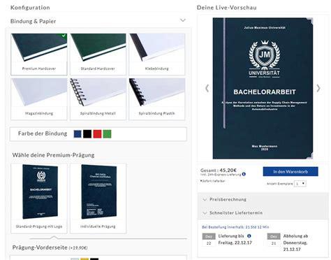 Online Drucken Und Binden by Bachelorarbeit Drucken Binden Online So Findest Du Die