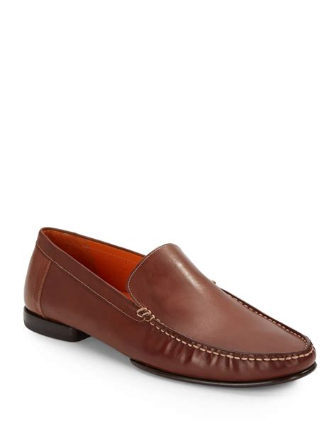 mezlan loafer mezlan polanco leather loafers in brown for lyst