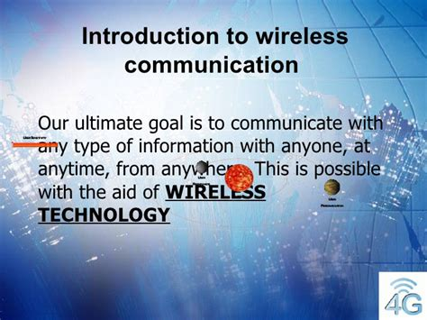 slides for ppt on wireless communication 4g wireless final ppt