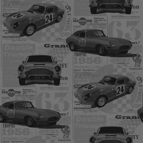 Grey Vintage Bedroom Wallpaper Decor Vintage Race Cars Bedroom Wallpaper Grey