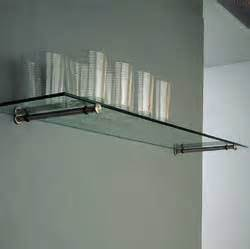 pair of glass shelf supports wall fixing stainless steel