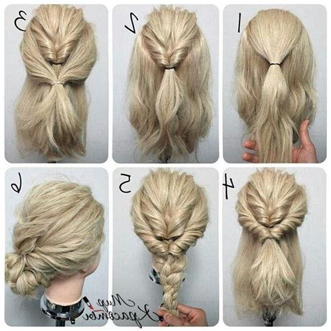 25 easy hairstyles with braids 15 ideas of medium long updos hairstyles