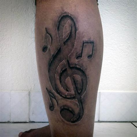 treble clef tattoo design 80 treble clef designs for musical ink ideas