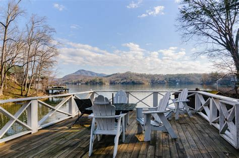 Lake Lure Cabin Rentals On The Water by Large Lakefront Vacation Rental With Dock On Lake Lure