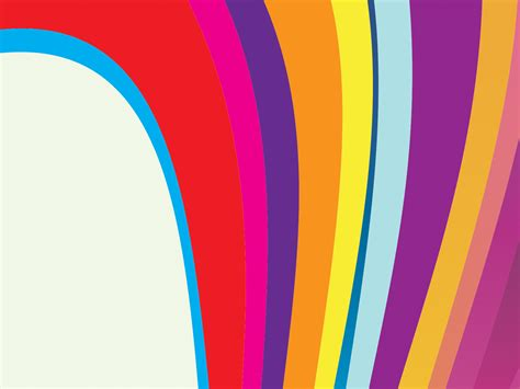 rainbow waves backgrounds presnetation ppt backgrounds
