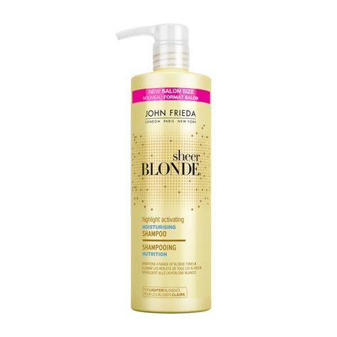 best shoo for blonde highlights best conditioners for blonde highlights john frieda sheer